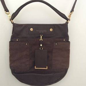 Marc by Marc Jacobs brown suede bucket bag